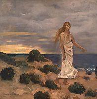 Woman by the Sea, 1887, chavannes