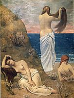 Young Girls on the Edge of the Sea, 1879, chavannes