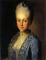 Portrait of Alexandra Perfilyeva, née Countess Tolstaya, c.1770, christineck