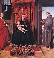 The Virgin and Child Enthroned with Saints Jerome and Francis, 1458, christus