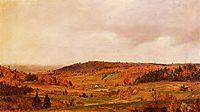 Autumn Shower, 1859, church