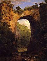 The Natural Bridge, Virginia, 1852, church