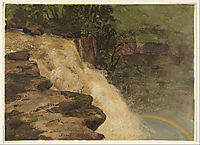 A Waterfall in Colombia, 1853, church