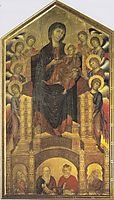 Enthroned Madonna with Angels, c.1285, cimabue
