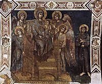Madonna Enthroned with the Child, St. Francis and Four Angels , 1280, cimabue