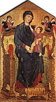 Madonna Enthroned with the Child and Two Angels, 1280, cimabue