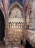 View of the frescoes in the left transept, 1283, cimabue