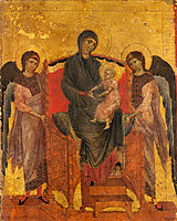 The Virgin and Child Enthroned with Two Angels, cimabue