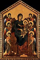 Virgin Enthroned with Angels, 1295, cimabue