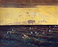 Adoration of the Sun, 1909, ciurlionis