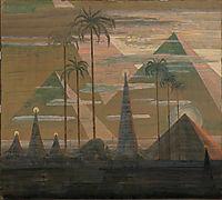 Andante (Sonata of the Pyramids) , 1909, ciurlionis