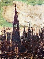 City (Towers), 1906, ciurlionis