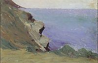 Cliff by the sea, 1905, ciurlionis