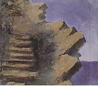 Cliff at the seaside, 1905, ciurlionis