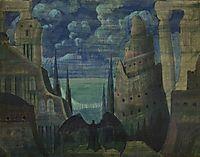 The Demon, 1909, ciurlionis
