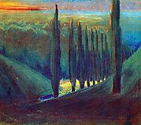 Funeral Symphony (IV), 1903, ciurlionis