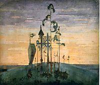 Graveyard Motif , 1909, ciurlionis