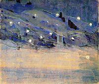 Sparks (III), 1906, ciurlionis