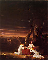 Angels Ministering to Christ in the Wilderness, 1843, cole