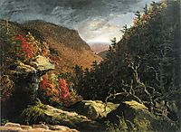 The Clove, Catskills (Double impact), 1827, cole