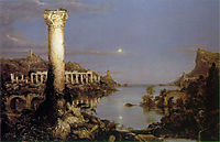 The Course of the Empire: Desolation, 1836, cole