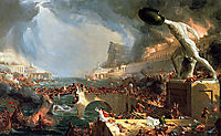 The Course of Empire: Destruction, 1836, cole