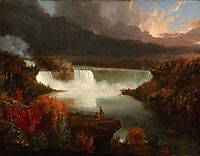 Distant View of Niagara Falls, 1830, cole