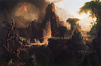 Expulsion from the Garden of Eden, 1828, cole