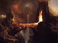 Expulsion. Moon and Firelight, c.1828, cole