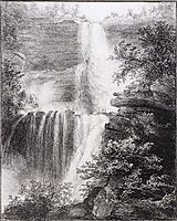 Falls at Catskill, 1829, cole