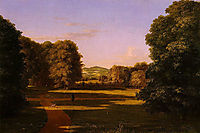 The Gardens of the Van Rensselaer Manor House, 1840, cole