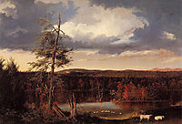 Landscape, the Seat of Mr. Featherstonhaugh in the Distance, 1826, cole