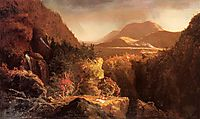 Landscape with Figures A Scene from The Last of the Mohicans , 1826, cole