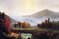 Morning Mist Rising, Plymouth, New Hampshire, A View in the United States of America in Autumn, 1830, cole