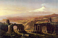 Mount Aetna from Taormina, 1844, cole