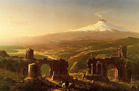Mount Etna from Taormina, 1843, cole