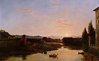 Sunset of the Arno, 1837, cole