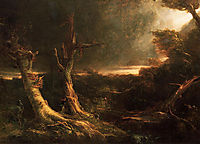 A Tornado in the Wilderness, 1831, cole