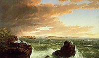View Across Frenchman`s Bay from Mount Desert Island, After a Squall, 1845, cole