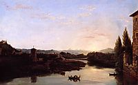 View of the Arno, 1838, cole