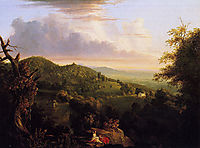 View of Monte Video Seat of Daniel Wadsworth, 1828, cole