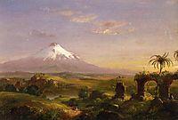 View of Mount Etna, 1844, cole