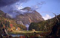 A View of the Mountain Pass Called the Notch of the White Mountains (Crawford Notch), 1839, cole