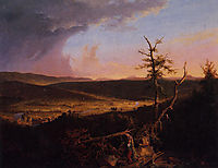 View on the Schoharie, 1826, cole