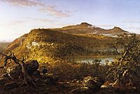A View of the Two Lakes and Mountain House, Catskill Mountains, Morning, 1844, cole