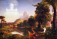 The Voyage of Life: Youth, 1842, cole
