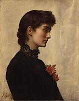 The Artist-s Wife, Marion Collier (née Huxley), collier