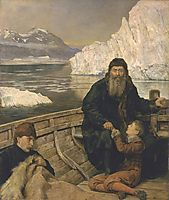 The Last Voyage of Henry Hudson, c.1881, collier