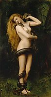 Lilith with a Snake, 1886, collier