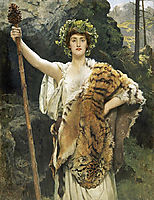 The Priestess of Bacchus, 1889, collier